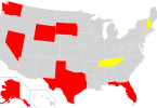 State Income Tax Map Showing States With No Income Tax