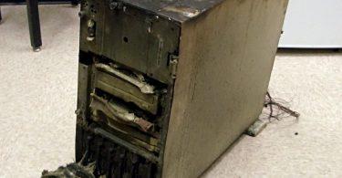 Melted Server Computer