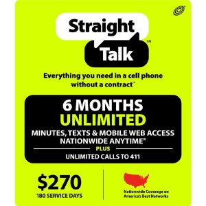 Straight Talk Cell Phone Refill Card