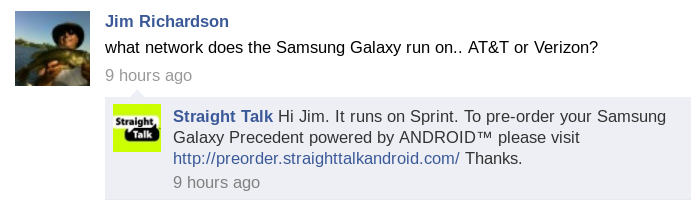 Straight Talk Android Samsung Galaxy Precedent on the Sprint Network