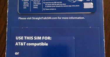 Straight Talk AT&T SIM Card